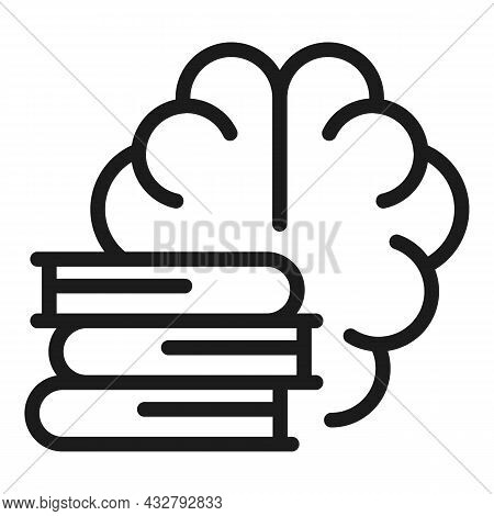 Book Memory Icon Outline Vector. Brain Development. Clever Mind