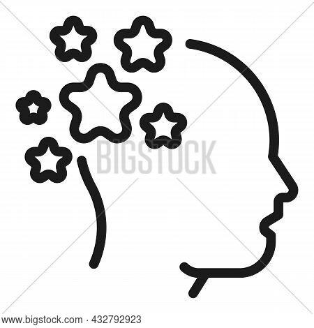 Human Memories Icon Outline Vector. Memory Brain. Health Mind