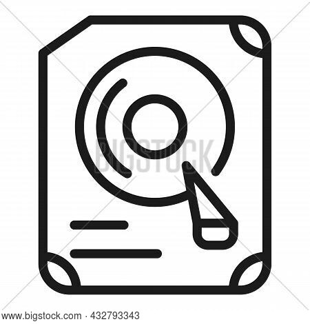 Computer Drive Icon Outline Vector. Server Hardware. Memory Disk