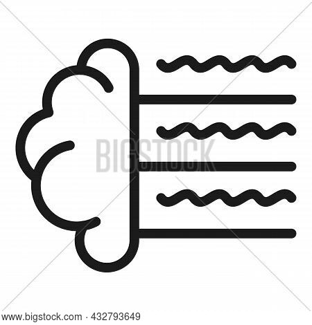 Brain Waves Icon Outline Vector. Human Mind. Cerebral Health