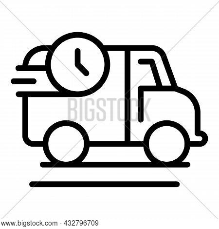Shipping Truck Icon Outline Vector. Fast Delivery. Van Courier