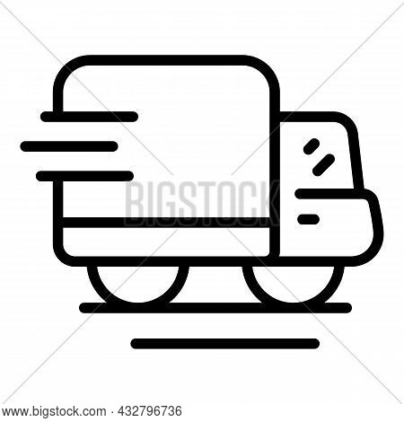 Shipping Transport Van Icon Outline Vector. Delivery Truck. Fast Service