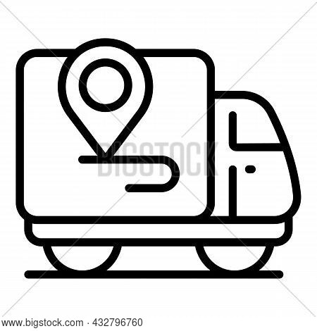 Lorry Delivery Icon Outline Vector. Fast Truck. Shipment Service