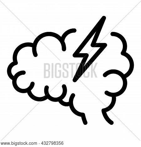 Headache Icon Outline Vector. Brain Pain. Dizzy Head