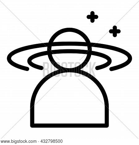 Dizziness Problem Icon Outline Vector. Headache Pain. Mental Dizzy
