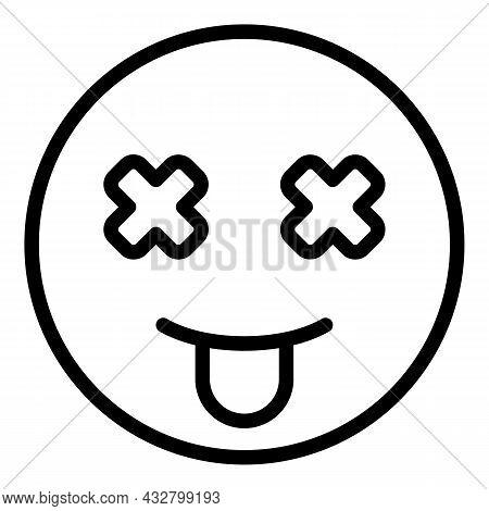 Dizziness Weak Icon Outline Vector. Mental Anxiety. Dizzy Headache