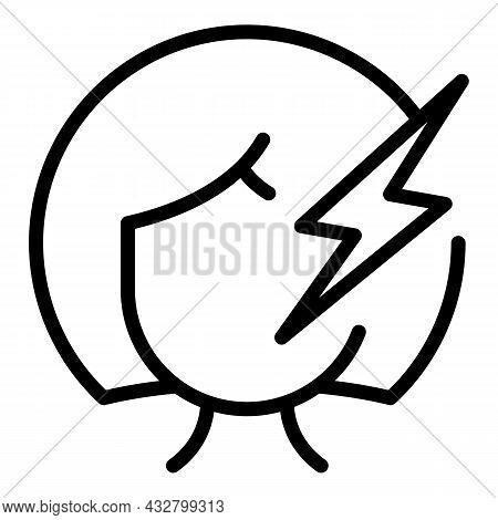 Headache Pressure Icon Outline Vector. Head Tension. Dizzy Mood