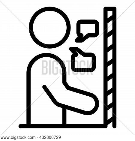 Restricted Social Life Icon Outline Vector. People Distance. Corona Protection