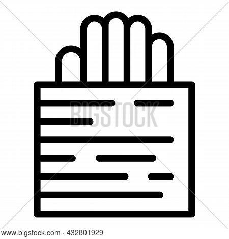 Verification Palm System Icon Outline Vector. Biometric Recognition. Scan Fingerprint