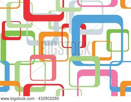 Seamless Background With Colorful Squares. Vector Illustration