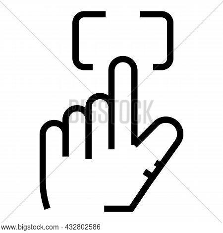 Fingerprint Recognition Icon Outline Vector. Biometric Scan. Digital Access