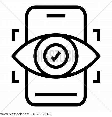 Eye Recognition Icon Outline Vector. Scan Identity. Biometric Id