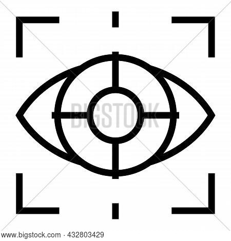 Eye Scanning Icon Outline Vector. Scan Vision. Retina Recognition