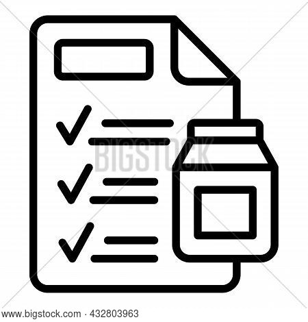 Chemical Report Icon Outline Vector. Laboratory Test. Lab Chemistry