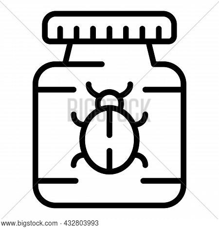 Bug Chemical Icon Outline Vector. Insecticide Control. Pest Spray