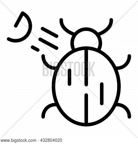 Spraying Bug Icon Outline Vector. Insect Spray. Aerosol Bottle