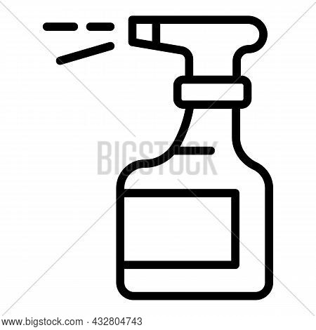Spray Bottle Icon Outline Vector. Clean Liquid. Chemical Sprayer