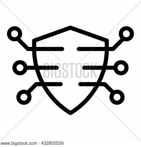 Shield Armor Icon Outline Vector. Safe Guard. Strong Protection