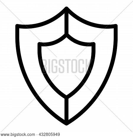 Shield Security Defence Icon Outline Vector. Safety Guard. Digital Protection