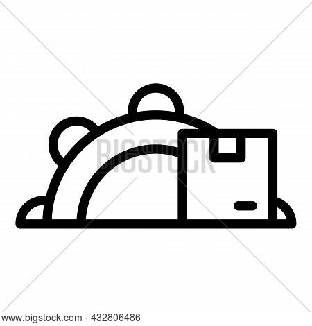 Production Flow Icon Outline Vector. Logistic System. Product Workflow