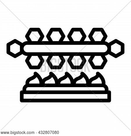 Manufacturing Control Icon Outline Vector. Manufacture Machine. Industry Robot