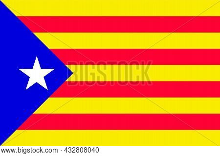 Catalan Independent Flag In Spain And France Part Of Europe