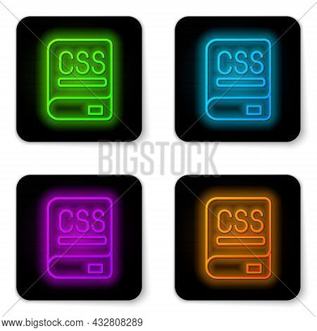 Glowing Neon Line Books About Programming Icon Isolated On White Background. Programming Language Co