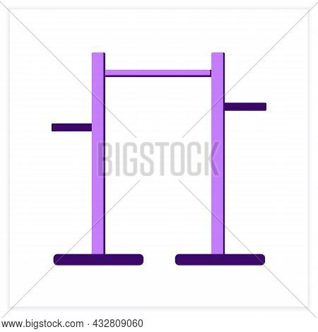 Pull Up Bar Flat Icon. Athletics And Workout Home Gym Equipment. Concept Of Pullup And Athletic Trai