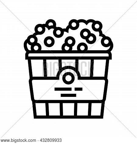 Popcorn Cinema Food Line Icon Vector. Popcorn Cinema Food Sign. Isolated Contour Symbol Black Illust