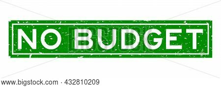 Grunge Green No Budget Word Square Rubber Seal Stamp On White Background