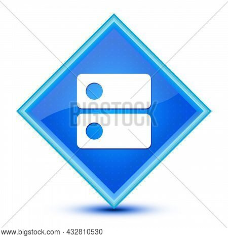 Dns Icon Isolated On Special Blue Diamond Button Illustration