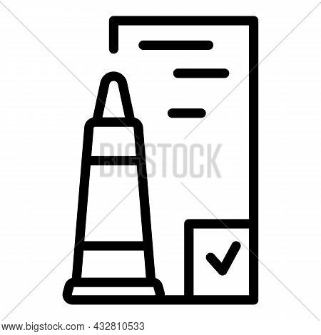 Physical Examination Icon Outline Vector. Medical Exam. Patient Test