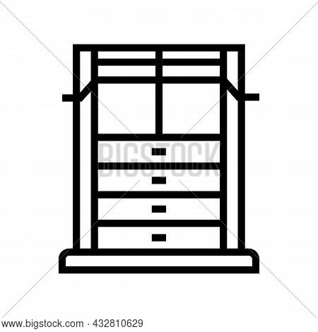Weight Training Apparatus Line Icon Vector. Weight Training Apparatus Sign. Isolated Contour Symbol