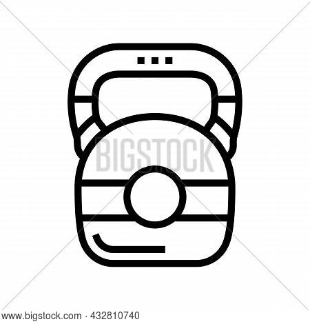 Dumbbell Athlete Tool Line Icon Vector. Dumbbell Athlete Tool Sign. Isolated Contour Symbol Black Il