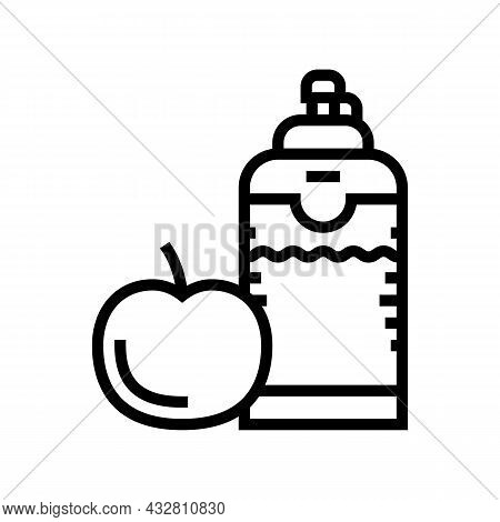 Healthy Food And Drink For Athlete Line Icon Vector. Healthy Food And Drink For Athlete Sign. Isolat