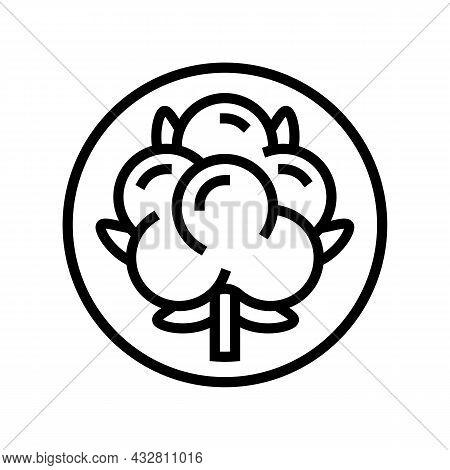 Cotton Clothing Washing Line Icon Vector. Cotton Clothing Washing Sign. Isolated Contour Symbol Blac