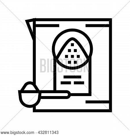 Detergent Powder Line Icon Vector. Detergent Powder Sign. Isolated Contour Symbol Black Illustration