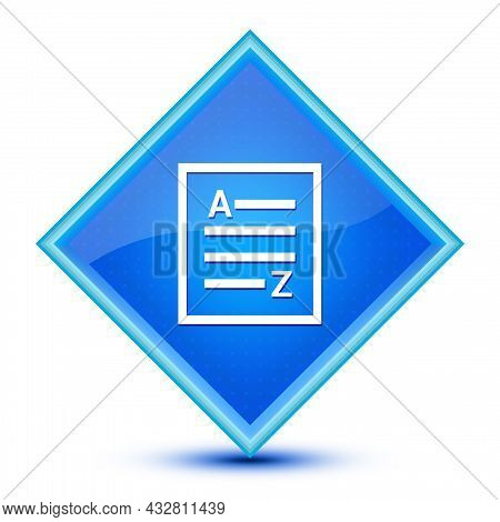 A-z(list Page Icon) Icon Isolated On Special Blue Diamond Button Abstract Illustration