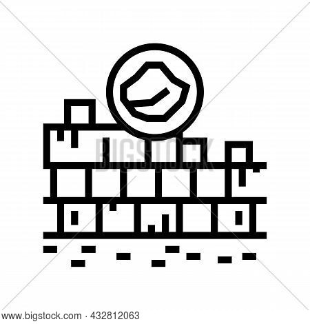Limestone Quarry Line Icon Vector. Limestone Quarry Sign. Isolated Contour Symbol Black Illustration