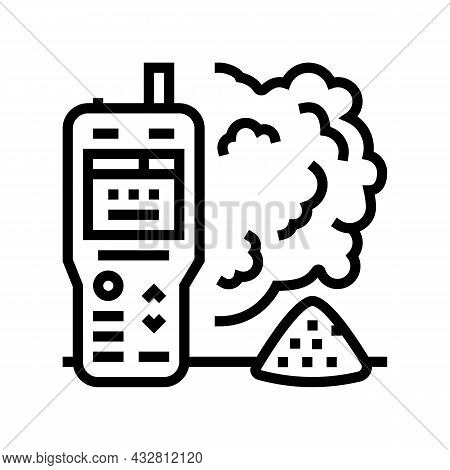 Air Dust Quality Line Icon Vector. Air Dust Quality Sign. Isolated Contour Symbol Black Illustration