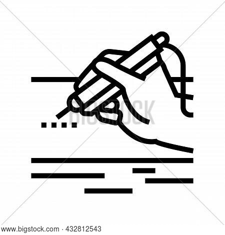 Laser Surgery Device Line Icon Vector. Laser Surgery Device Sign. Isolated Contour Symbol Black Illu