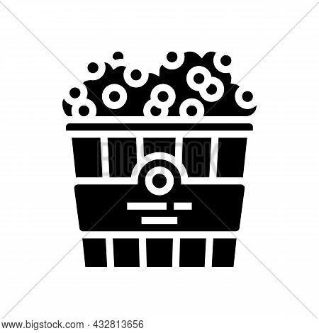 Popcorn Cinema Food Glyph Icon Vector. Popcorn Cinema Food Sign. Isolated Contour Symbol Black Illus