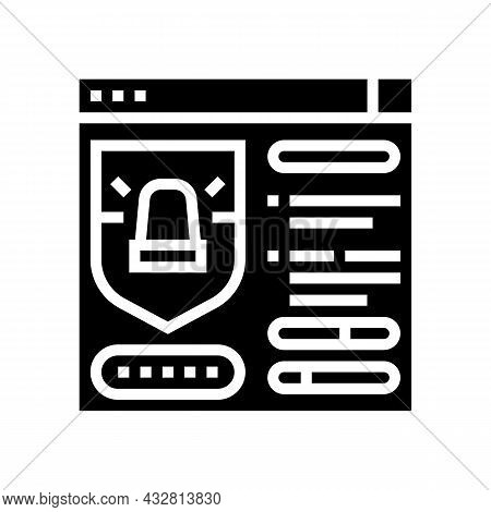 Protection System Glyph Icon Vector. Protection System Sign. Isolated Contour Symbol Black Illustrat