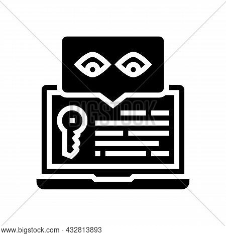 Key Security System Glyph Icon Vector. Key Security System Sign. Isolated Contour Symbol Black Illus