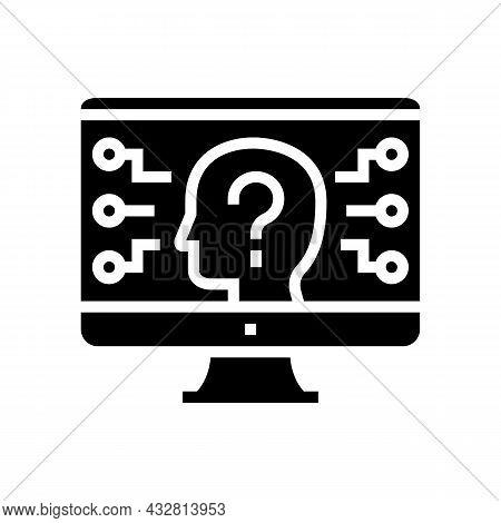 Encrypt Security System Glyph Icon Vector. Encrypt Security System Sign. Isolated Contour Symbol Bla