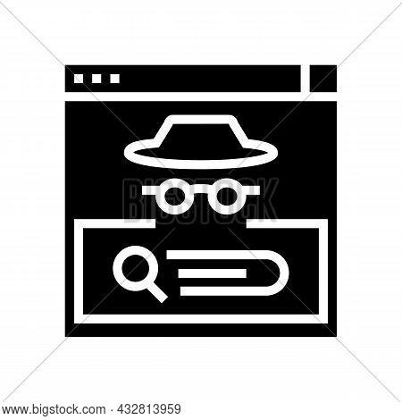 Confidential Security System Glyph Icon Vector. Confidential Security System Sign. Isolated Contour