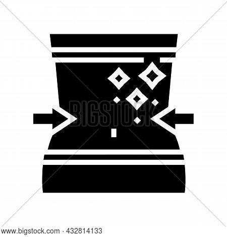 Thin Waist Athlete Glyph Icon Vector. Thin Waist Athlete Sign. Isolated Contour Symbol Black Illustr