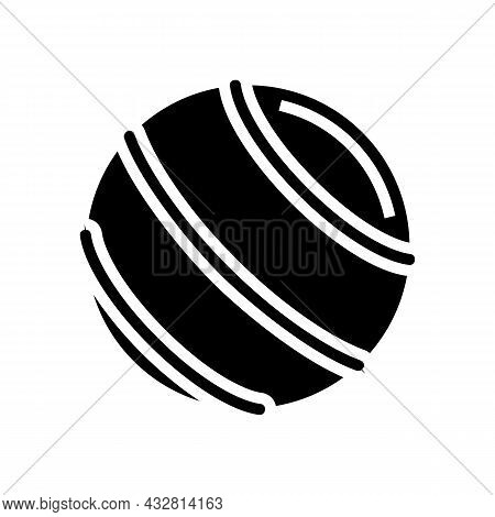 Ball Fitness Accessory Glyph Icon Vector. Ball Fitness Accessory Sign. Isolated Contour Symbol Black
