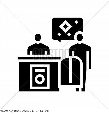 Dry Cleaning Service Glyph Icon Vector. Dry Cleaning Service Sign. Isolated Contour Symbol Black Ill