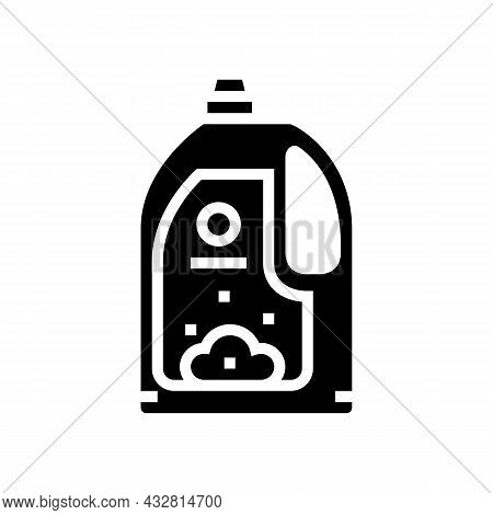 Conditioner For Wash Textile Clothing Glyph Icon Vector. Conditioner For Wash Textile Clothing Sign.